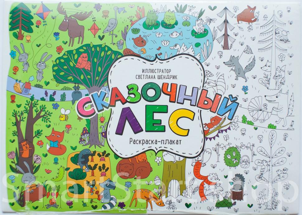 Сказочный лес. Раскраска-плакат | Купить книгу в Канаде и ...
